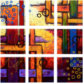 Designer  Multipanel Oil Painting 88