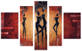 Designer  Multipanel Oil Painting 221