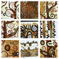 Designer  Multipanel Oil Painting 89